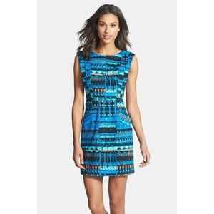 Plenty by Tracy Reese Blue Abstract Print Dress